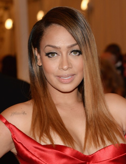 La La Anthony Long Hairstyle: Ombre Straight Cut