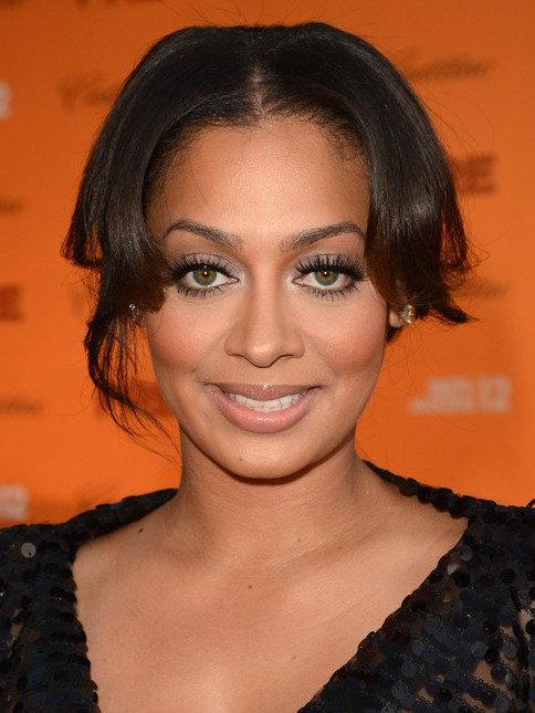 La La Anthony Long Hairstyle: Pinned up Hair