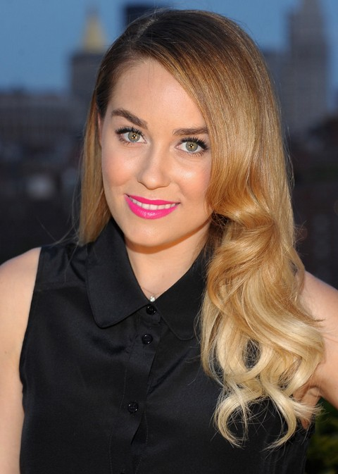 Lauren Conrad Hairstyles: Side-parted Curls