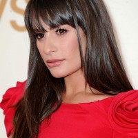 Lea Michele Hairstyles: Glossy Straight Haircut