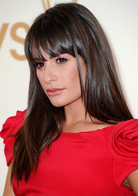Lea Michele Hairstyles Glossy Straight Haircut Pretty
