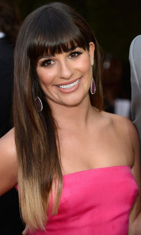 Lea Michele Hairstyles: Ombre Hair