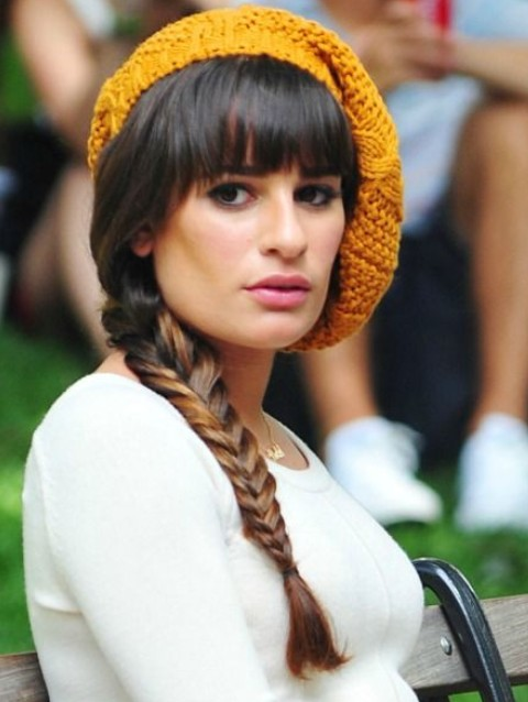 Lea Michele Hairstyles: Sleek Braid