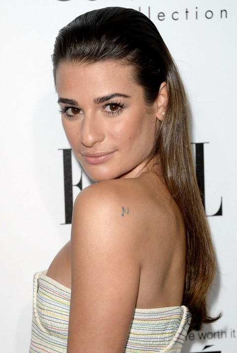 Lea Michele Hairstyles: Trendy Half-up Half-down Hairstyle