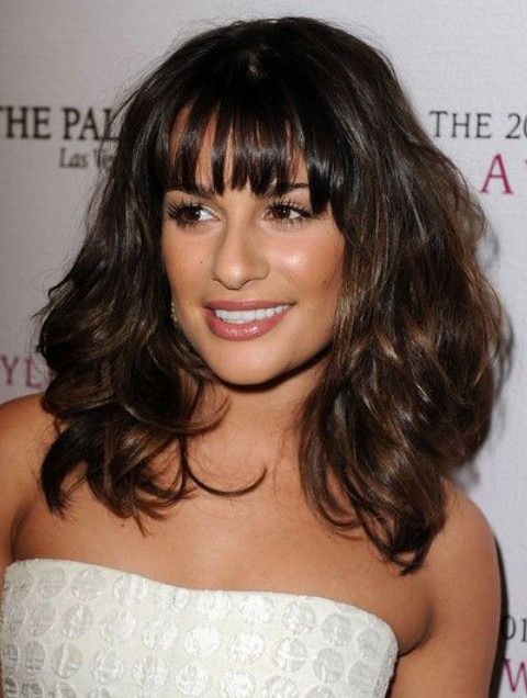 Lea Michele Hairstyles: Voluminous Medium Curls
