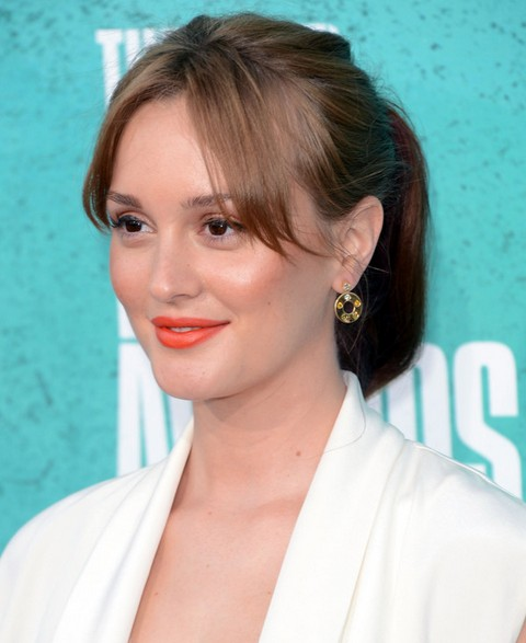 Leighton Meester Hairstyles: Cute Ponytail