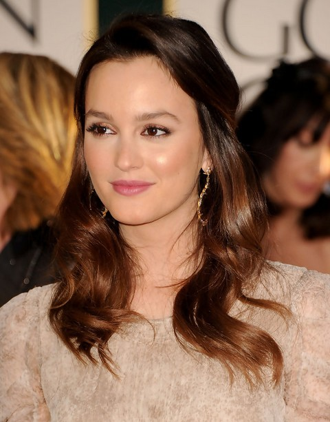 Leighton Meester Hairstyles: Radiant Half-up Half-down