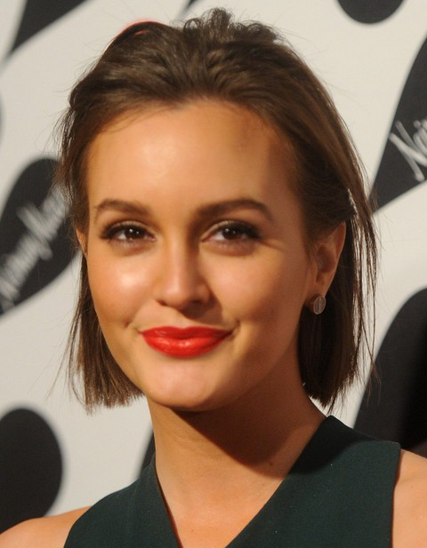 Leighton Meester Hairstyles: Short Straight Haircut