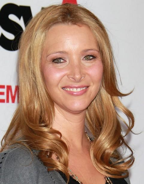Lisa Kudrow Medium Length Hairstyle: Blonde Curls