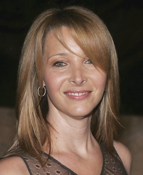 Lisa Kudrow Medium Length Hairstyle: Straight Hair with Bangs