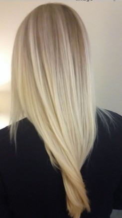The Simple Long Blond Straight Hairstyle
