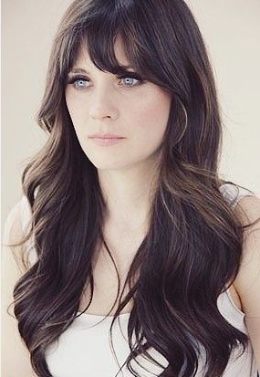 long haircuts for thin hair 5 glamorous hairstyles for thin hair pretty designs 1090 | Long Wavy Brunette Hairstyle with Bangs for Thin Hair