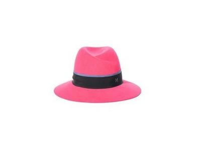 MAISON MICHEL Virginie fedora hat, raspberry pink