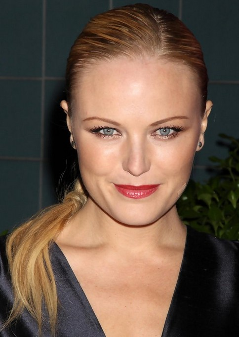 Malin Akerman Long Hairstyle: Braided Hairstyle without Bangs