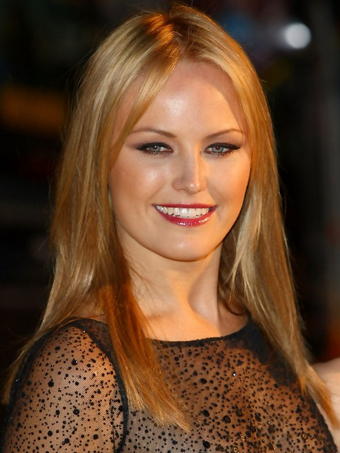 Malin Akerman Long Hairstyle: Straight Hair for Party