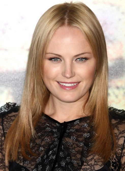Malin Akerman Long Hairstyle: Straight Hair with Center Part