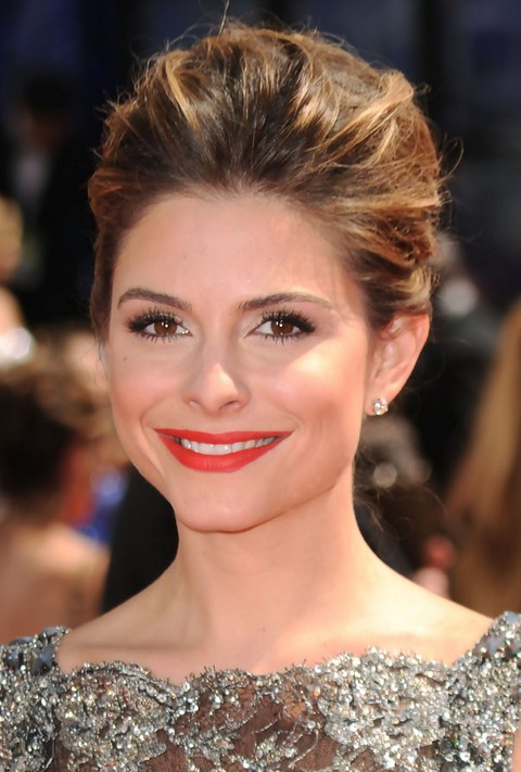 Maria Menounos Hairstyles Classic Bun  Pretty Designs