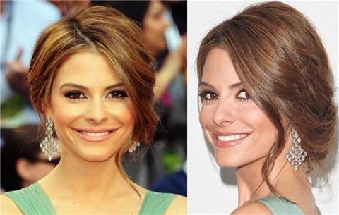 Maria Menounos Hairstyles: Loose Updo