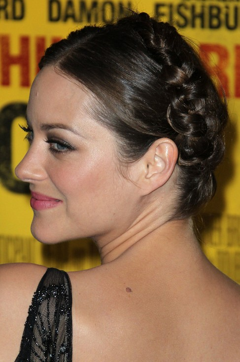 Marion Cotillard Long Hairstyle: Braided Updo