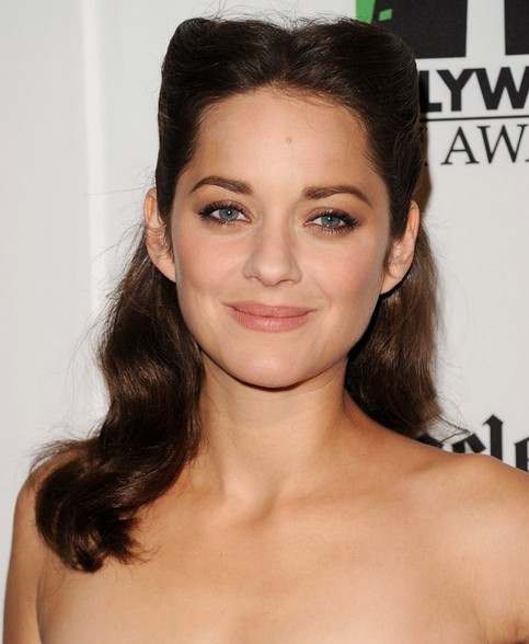 Marion Cotillard Long Hairstyle: Curls with Knots