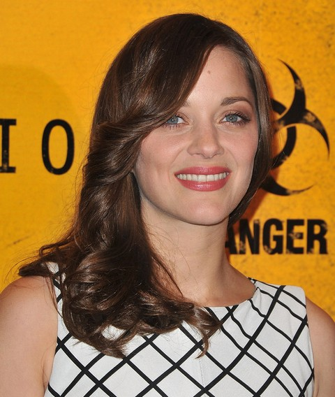 Marion Cotillard Long Hairstyle: Side Parted Flip
