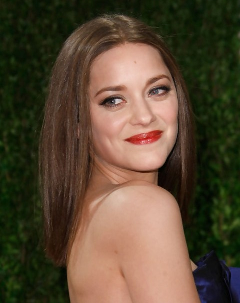 Marion Cotillard Long Hairstyle: Straight Hair with Side Bangs
