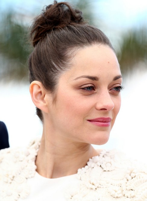 Marion Cotillard Long Hairstyle: Twisted Bun for Party