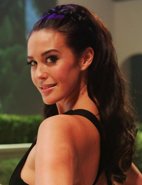 Megan Gale Long Hairstyle: Braided Hair