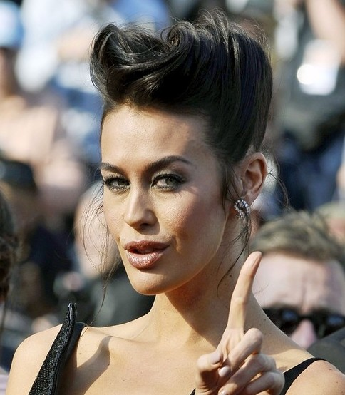 Megan Gale Long Hairstyle: Cool Pompadour