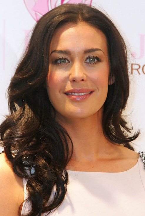 Megan Gale Long Hairstyle: Retro Curls