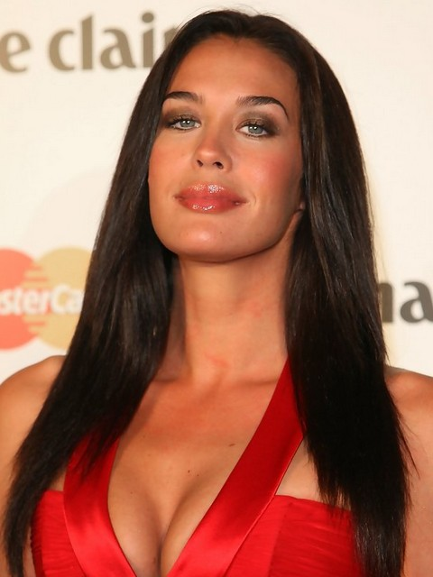 Megan Gale Long Hairstyle: Sleek Hair