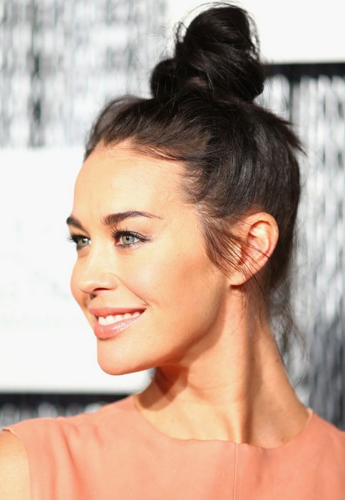 Megan Gale Long Hairstyles: 2014 Hair Knot