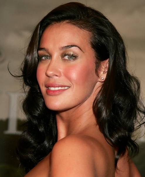 Megan Gale Medium Length Hairstyle: Sexy Curls