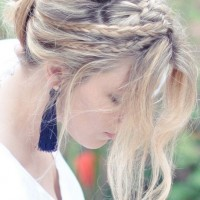 Messy Rope Hairstyle for Daily Look