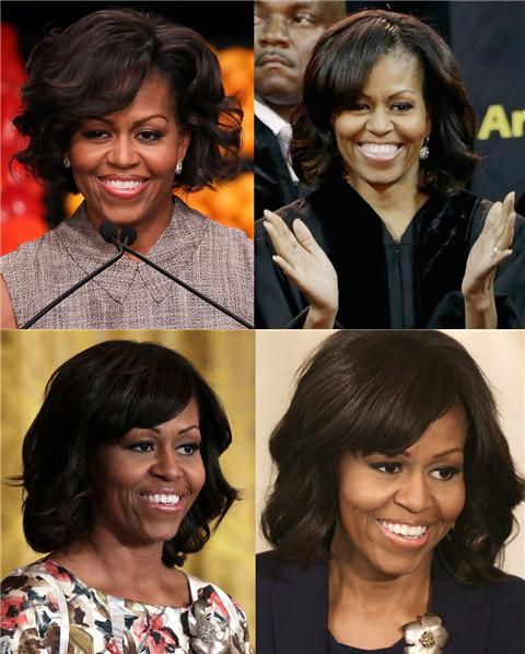 Michelle Obama Hairstyles: Medium Curls
