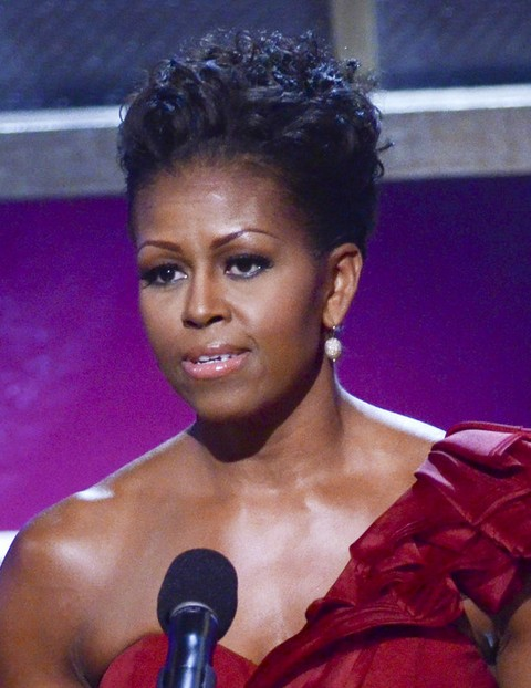 Michelle Obama Hairstyles: Pinned Up Ringlets
