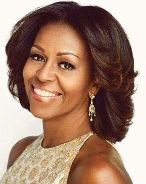 Michelle Obama Hairstyles: Radiant Look