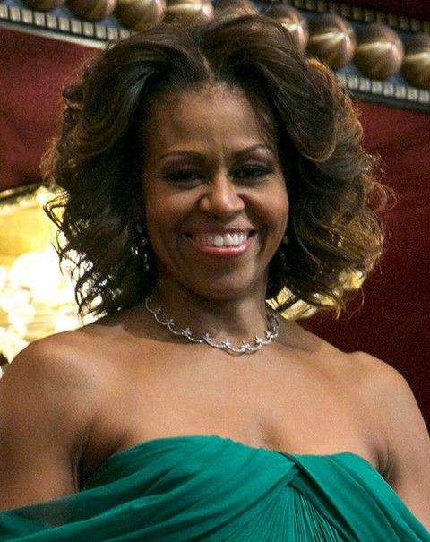 Michelle Obama Hairstyles Voluminous Curls Pretty Designs