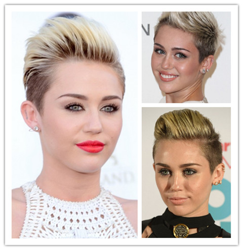Miley Cyrus Hairstyles: Faux Hawk Haircut