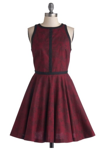 Minimalist is More Dress in Wine, Evening and Party Dresses