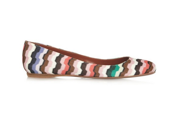 Missoni Crochet-knit ballet flats, multicolored
