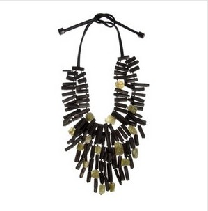 Monies Ebony and Apatite Dangle Necklace