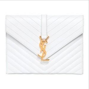 Monogramme Saint Laurent White Leather Bag