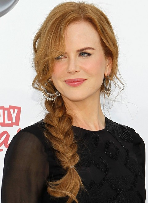 Nicole Kidman Long Hairstyle: Blonde Braid