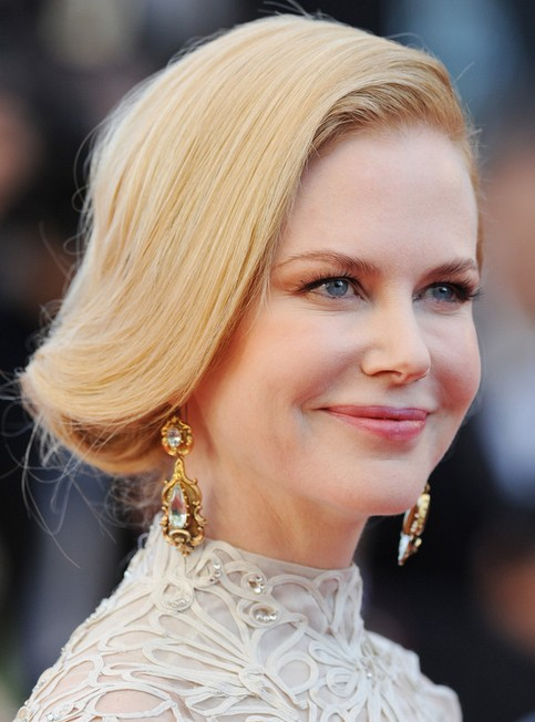 Nicole Kidman Long Hairstyle: Bobby Pinned Updo for Summer