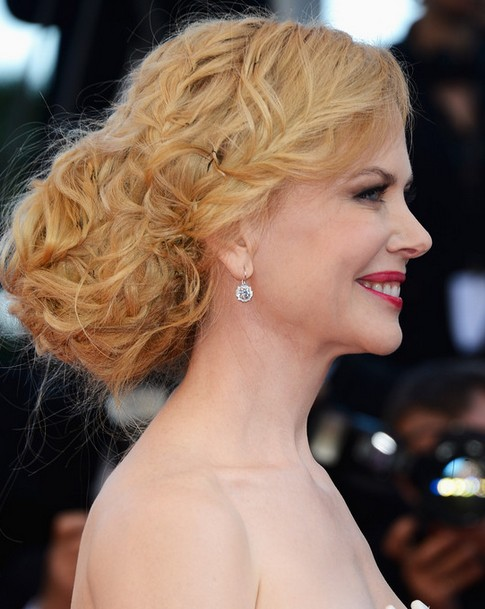 Nicole Kidman Long Hairstyle: Braided Bun