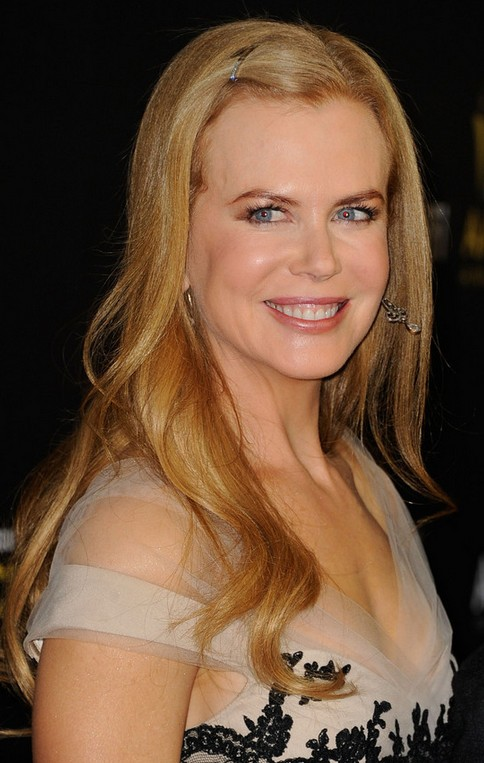 Nicole Kidman Long Hairstyle: Clipped Bangs