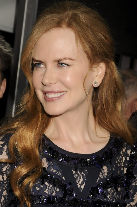 Nicole Kidman Long Hairstyle: Half Up Half Down