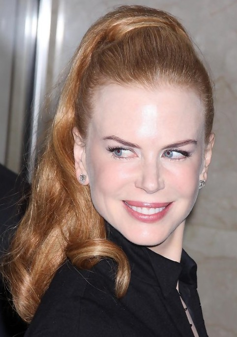 Nicole Kidman Long Hairstyle: High Ponytail