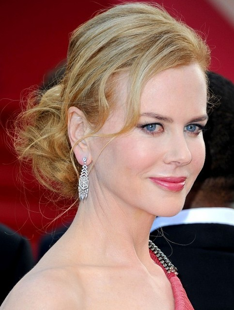 Nicole Kidman Long Hairstyle: Loose Bun